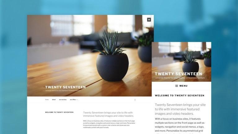 4.7 Twenty-Seventeen Screenshot as Featured Image