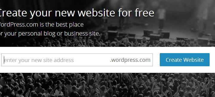 how to create a free wordpress site