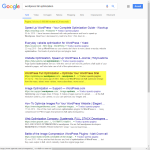 Wordpress Full Optimization Google Search Page 2 Screenshot: Position 4 after 37 minutes